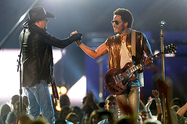 Jason Aldean and Lenny Kravitz