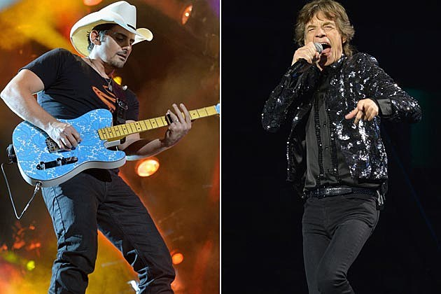 Brad Paisley Mick Jagger Rolling Stones