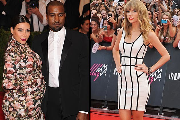 Kim Kardashian Kanye West Taylor Swift
