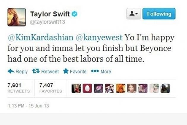 Taylor Swift Kanye Tweet