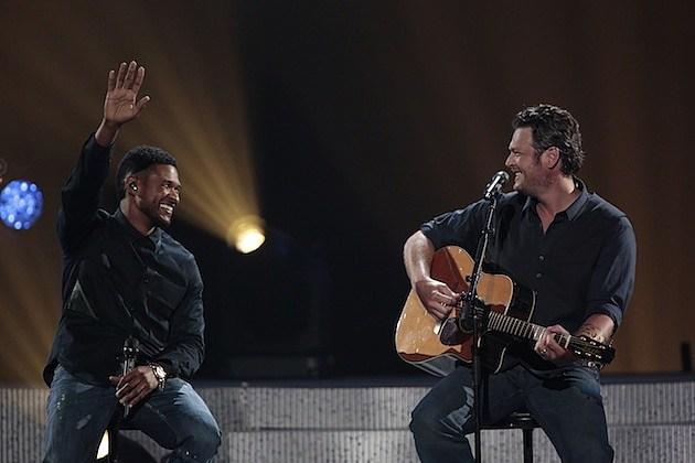 Usher, Blake Shelton