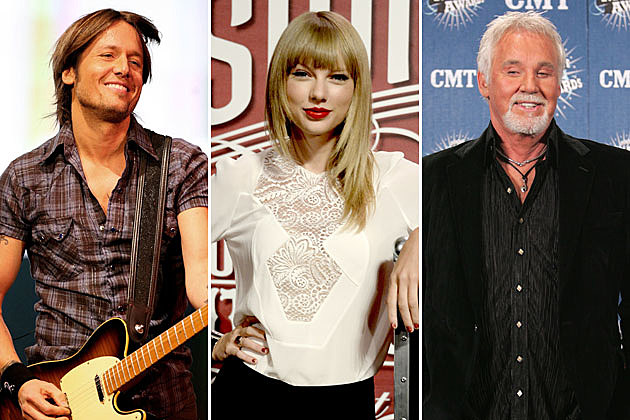 Keith Urban, Taylor Swift, Kenny Rogers