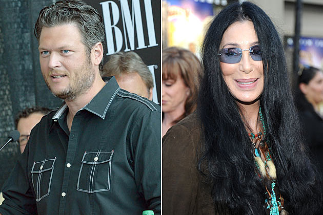 Blake Shelton and Cher