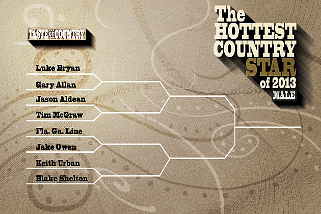 Hottest Country Male Round 1 Bracket