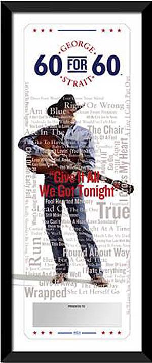 George Strait Plaque
