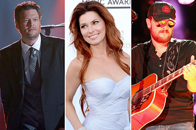 Blake Shelton Shania Twain Eric Church