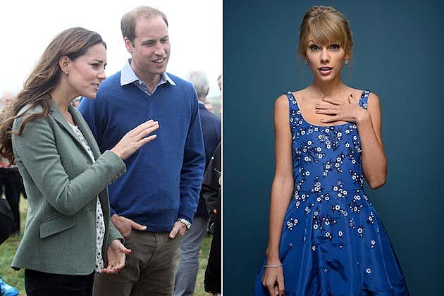 Taylor Swift, Prince William and Kate Middleton