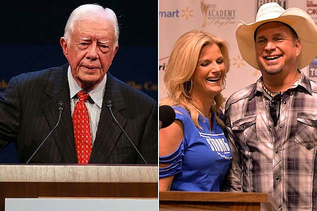Trisha Yearwood, Garth Brooks, President Carter