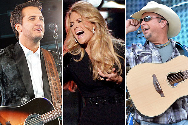 Luke Bryan, Carrie Underwood, Garth Brooks