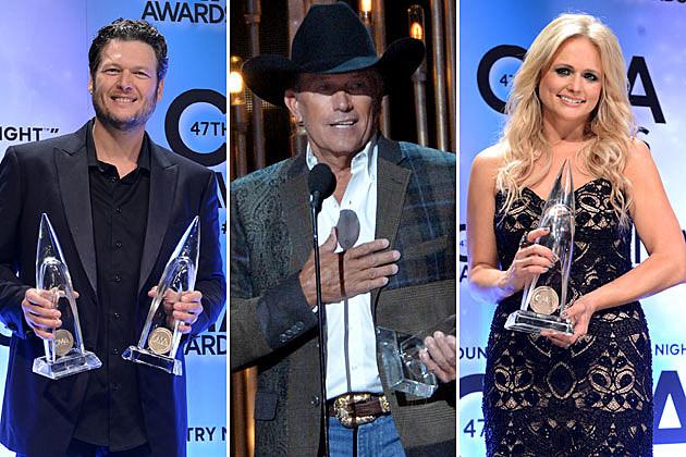 Blake Shelton, George Strait, Miranda Lambert