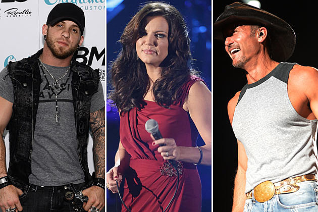 Brantley Gilbert, Martina McBride, Tim McGraw