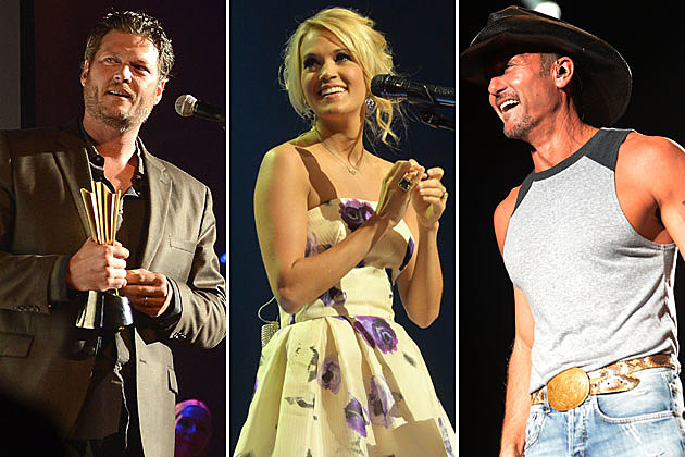 Blake Shelton, Carrie Underwood, Tim McGraw