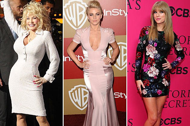Dolly Parton, Julianne Hough, Taylor Swift