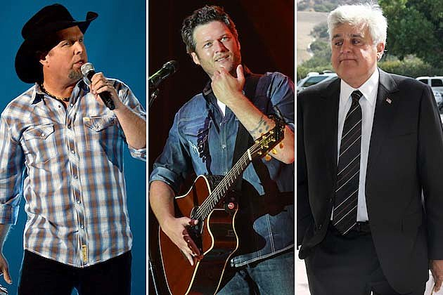 Garth Brooks, Blake Shelton, Jay Leno