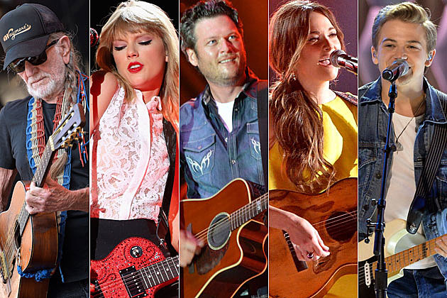 Willie Nelson, Taylor Swift, Blake Shelton, Kacey Musgraves, Hunter Hayes
