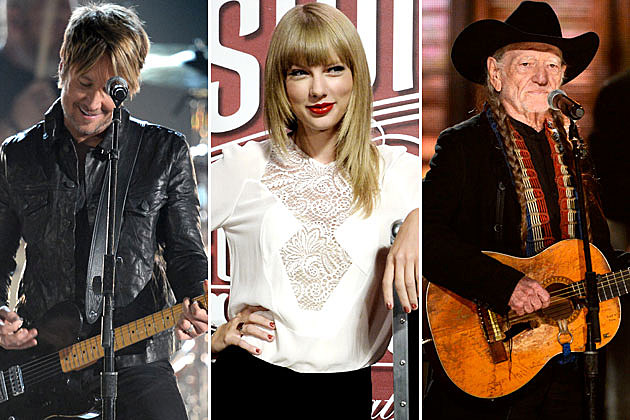 Keith Urban, Taylor Swift, Willie Nelson
