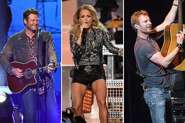Blake Shelton, Carrie Underwood, Dierks Bentley