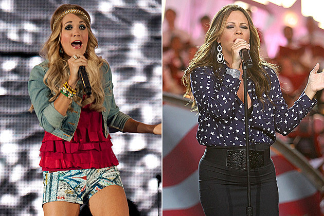 Carrie Underwood Sara Evans