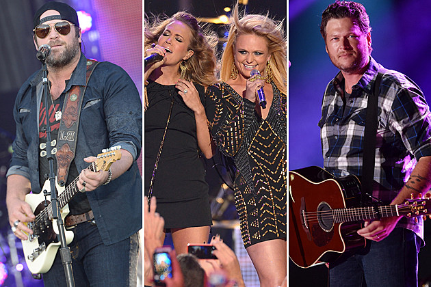 Blake Shelton, Miranda Lambert, Carrie Underwood, Lee Brice