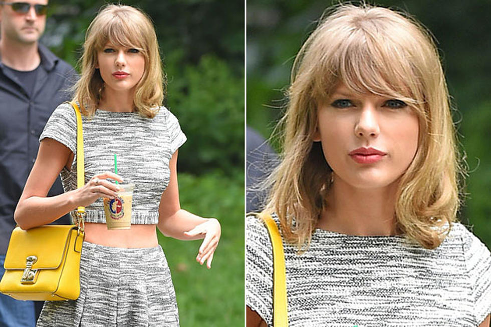Taylor Swift Strolls Around NYC, Samples Adorable Hairstyle