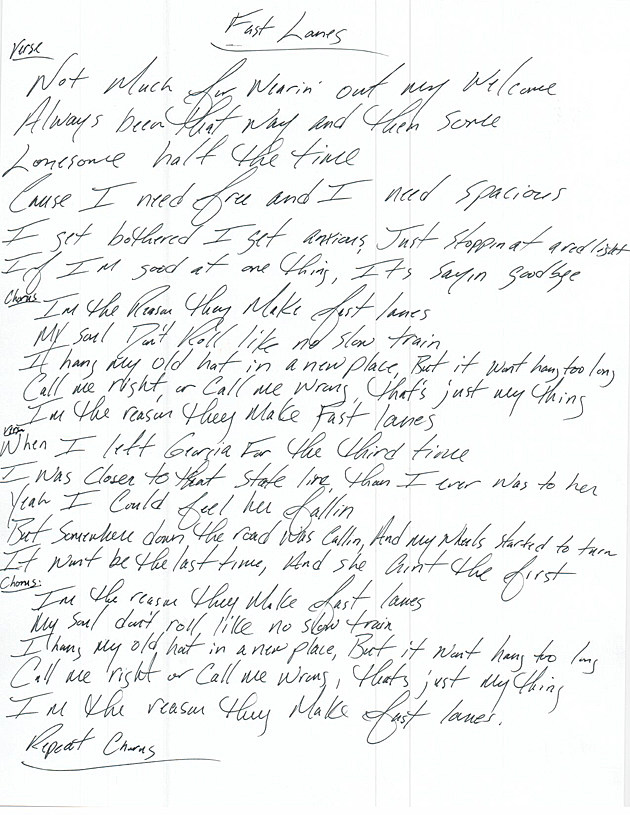 Fast Lanes Lyrics