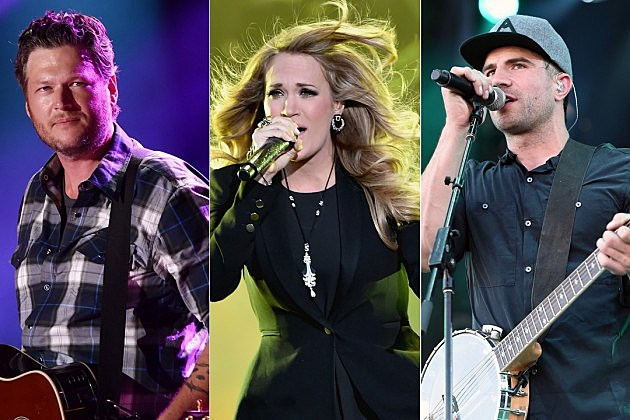 Blake Shelton, Carrie Underwood, Sam Hunt