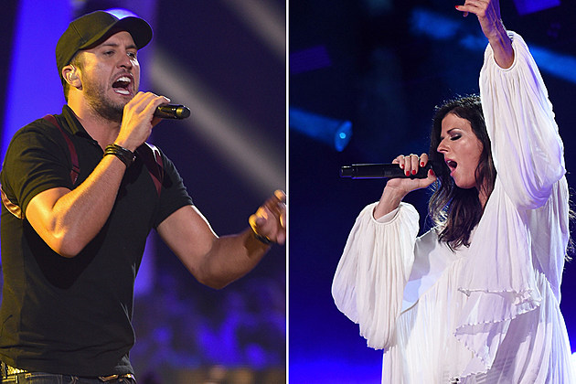 Luke bryan karen fairchild to duet at american music awards for Country duets male and female songs