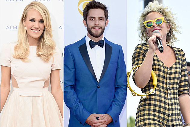 Carrie Underwood, Thomas Rhett, Cam