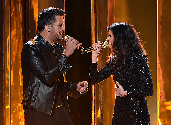 Luke bryan and karen fairchild bring emotional duet to amas for Best country duets male and female
