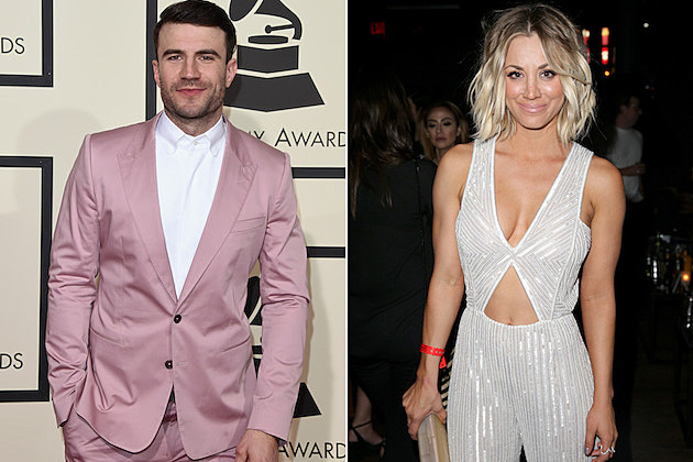 sam-hunt-kaley-cuoco-grammy-party