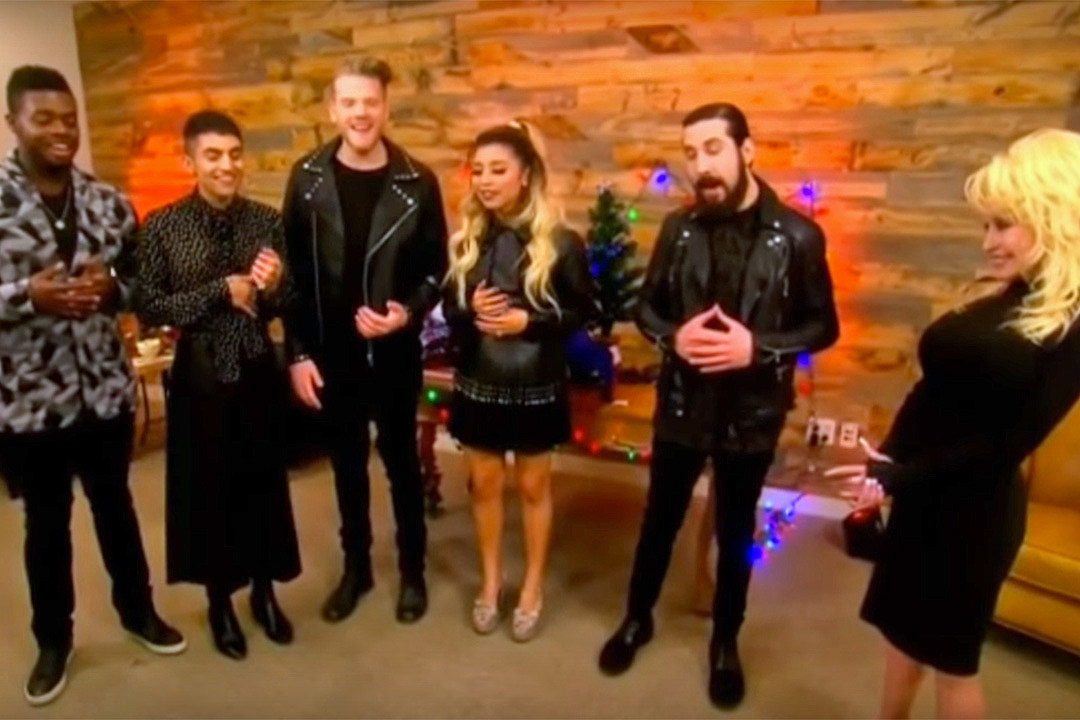 dolly parton joins pentatonix for silent night performance