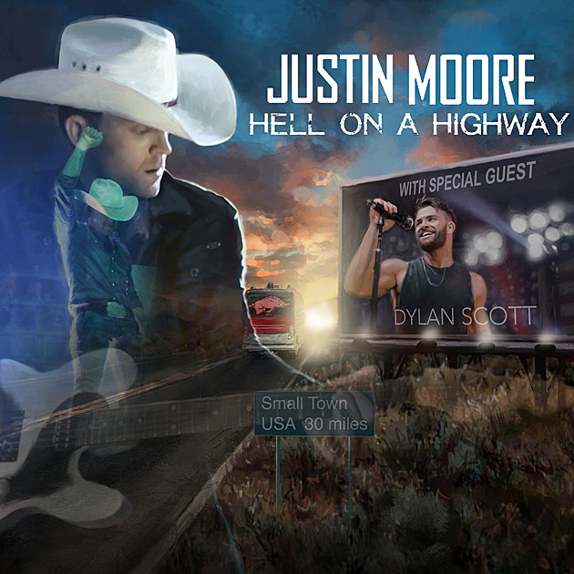 justin-moore-hell-on-a-highway-tour-poster