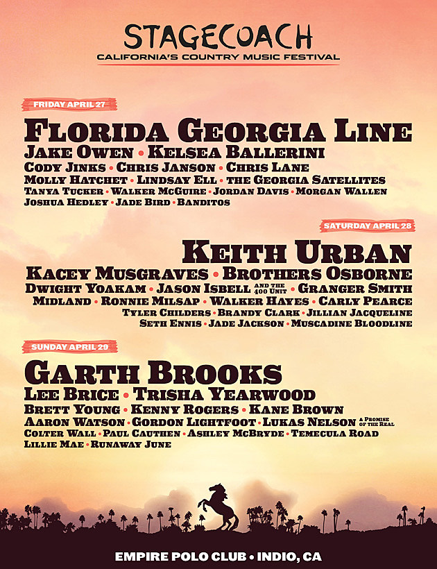 Stagecoach Festival Lineup for 2018
