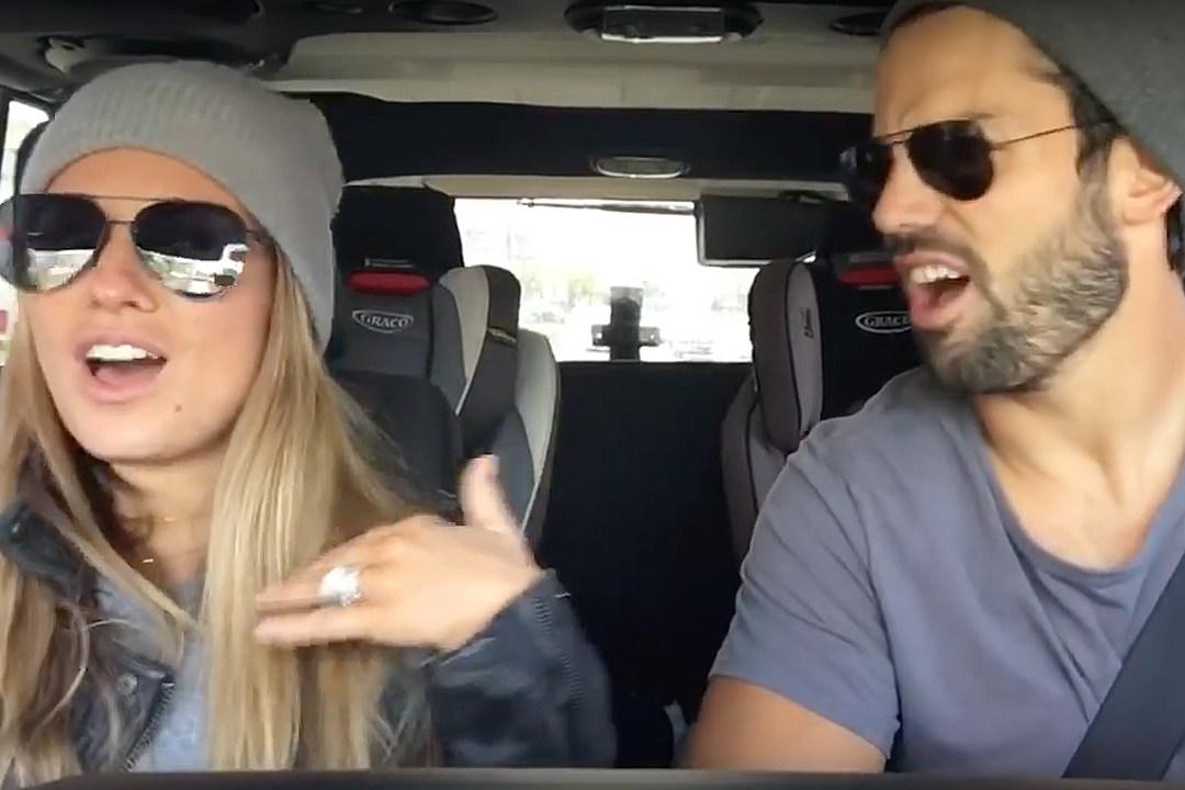 Jessie James and Eric Decker Get Playful in 'Carpool Karaoke'