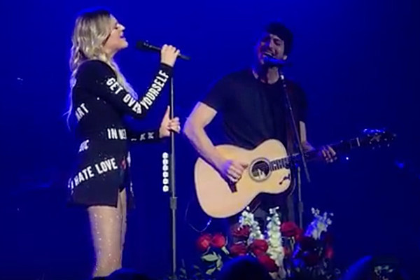 Morgan Evans Joins Flu-Ridden Kelsea Ballerini Onstage For